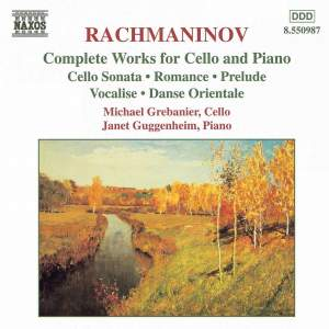 Rachmaninov: Complete Works for Cello & Piano Product Image