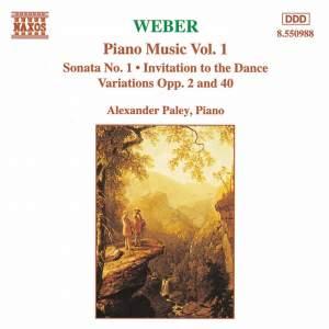Weber: Piano Music Vol. 1