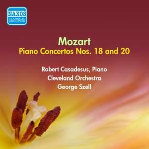 Mozart: Piano Concertos Nos. 18 & 20