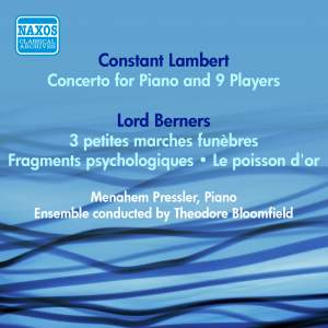 Lambert: Concerto for Piano and 9 Players