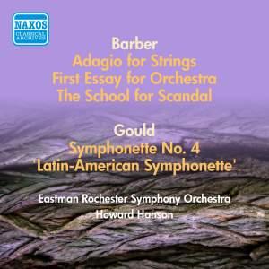 Gould, M: Latin-American Symphonette, Barber: Orchestral Works