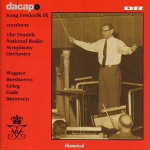 King Frederik IX conducts Danish National Radio Symphony Orchestra
