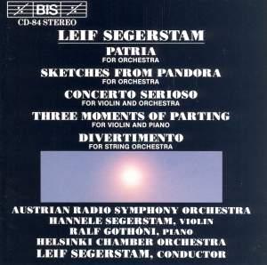 Segerstamd: Patria, Sketches from Pandora, Concerto Serioso & other works
