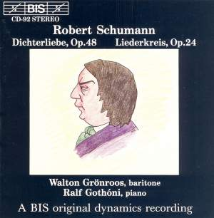 Schumann: Dichterliebe & Liederkreis Product Image