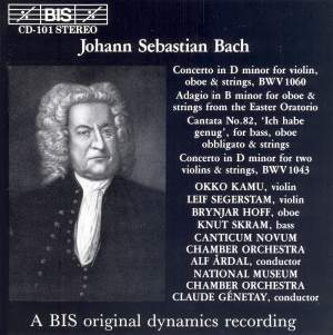 Bach: Concerto for Oboe & Violin, Double Concerto, Cantata 'Ich habe genug' Product Image