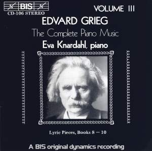 Grieg - The Complete Piano Music, Volume 3 Product Image