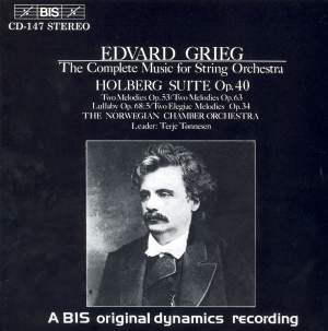 Grieg: The Complete Music for String Orchestra Product Image