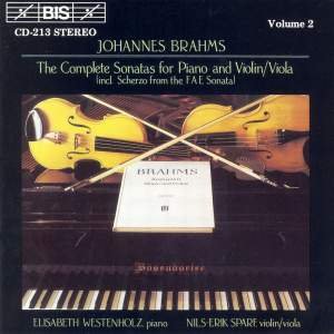 Brahms - The Complete Sonatas for Piano & Violin/Viola, Volume 2 Product Image