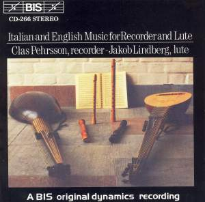 Italian and English Music for Recorder and Lute Product Image