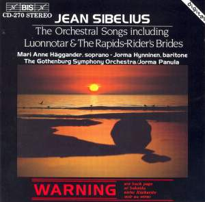 Sibelius - Orchestral Songs