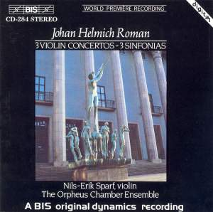 Johan Helmich Roman - Violin Concertos & Sinfonias