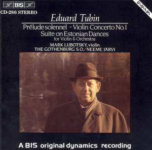 Tubin: Violin Concerto No. 1, etc.