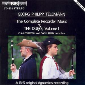 Telemann - Recorder Duets, Volume 1 Product Image