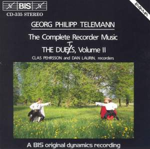 Telemann - Recorder Duets, Volume 2 Product Image