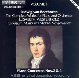 Beethoven - Piano Concertos Nos. 2 & 4 Product Image