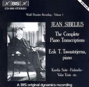 Sibelius - Complete Piano Transcriptions, Volume 1