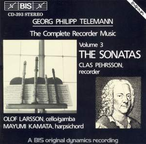 Telemann - Recorder Sonatas Product Image