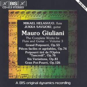 Giuliani - Complete Works for Flute and Guitar, Volume 3 Product Image