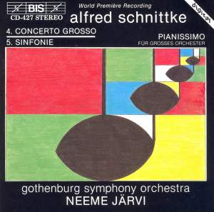 Schnittke: Concerto grosso No. 4 & Pianissimo for orchestra Product Image
