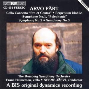 Pärt: Cello Concerto, Perpetuum Mobile & Symphonies Nos. 1-3 Product Image
