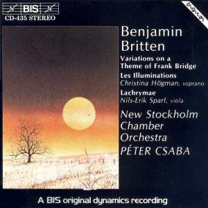 Britten: Les illuminations, Lachrymae & Frank Bridge Variations Product Image
