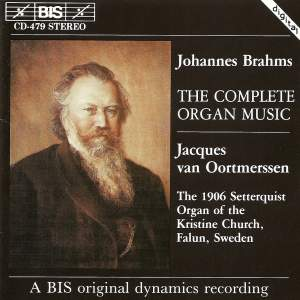 Brahms - The Complete Organ Music