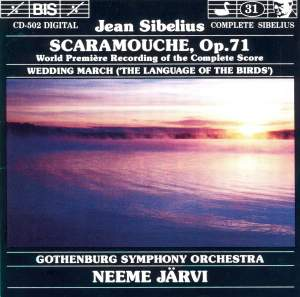 Sibelius: Scaramouche & Wedding March from 'The Language of the Birds' Product Image