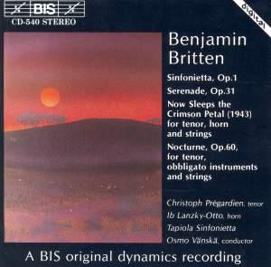 Britten: Works for Tenor & Orchestra