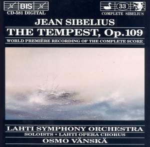 Sibelius: The Tempest, Op. 109 Product Image