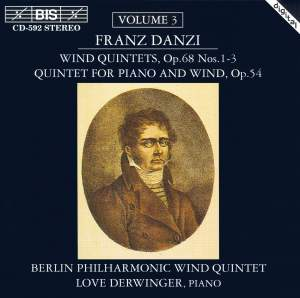 Danzi - Wind Quintets, Volume 3 Product Image