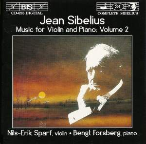 Sibelius - Music for Violin and Piano, Volume 2 Product Image