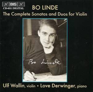 Bo Linde - Complete Sonatas and Duos for Violin Product Image