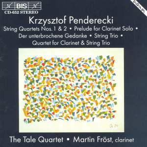 Penderecki: Works for Clarinet & Strings Product Image