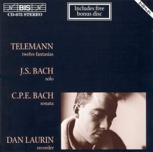 Telemann, J S Bach, C P E Bach - Recorder Music Product Image