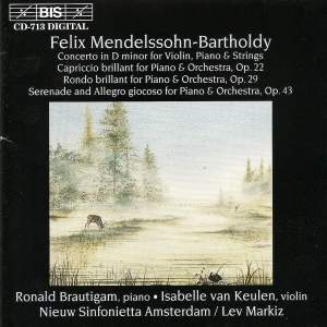 Mendelssohn: Concerto in D minor for Violin, Piano and String Orchestra Product Image