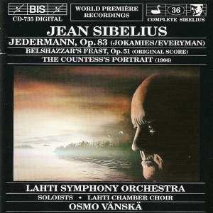 Sibelius: Jedermann, Belshazzer's Feast & The Countess's Portrait Product Image