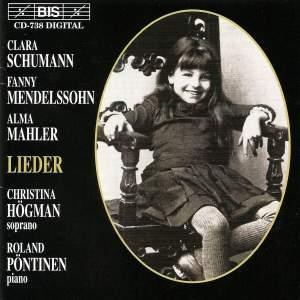 Clara Schumann, Fanny Mendelsohn, Alma Mahler - Lieder