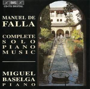 Manuel de Falla - Complete Solo Piano Music Product Image