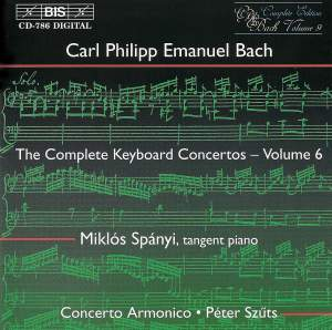 C P E Bach - Complete Keyboard Concertos, Volume 6 Product Image