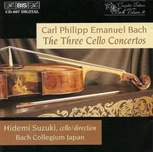 CPE Bach: Cello Concertos Nos. 1-3 Product Image