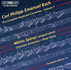C P E Bach - Complete Keyboard Concertos, Volume 7 Product Image