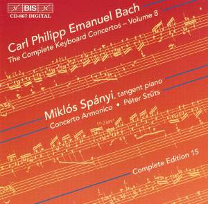 C P E Bach - Complete Keyboard Concertos, Volume 8 Product Image