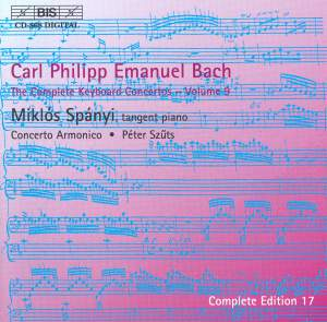 C P E Bach - Complete Keyboard Concertos, Volume 9 Product Image