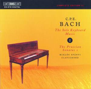 C P E Bach - Solo Keyboard Music Volume 1 Product Image