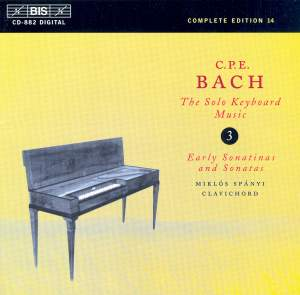 C P E Bach - Solo Keyboard Music Volume 3 Product Image