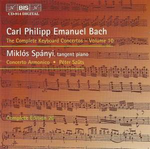 C P E Bach - Complete Keyboard Concertos, Volume 10 Product Image