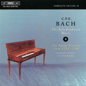 C P E Bach - Solo Keyboard Music Volume 4 Product Image