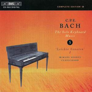 C P E Bach - Solo Keyboard Music Volume 5 Product Image