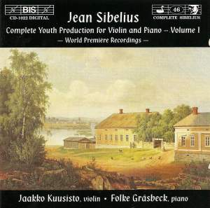 Sibelius - Youth Production for Violin & Piano, Volume 1