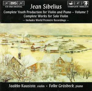 Sibelius - Youth Production for Violin & Piano, Volume 2